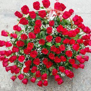 Korpa 101 ruža – 001 101 ruža