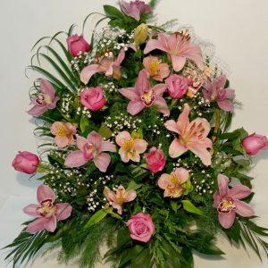Aranžmani za venčanja – 019 orhideja ruza ljiljan