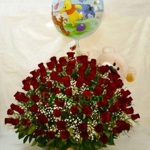 Korpa 101 ruža – 004 101 crvena ruža