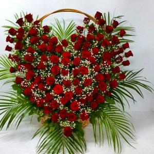 Korpa 101 ruža – 005 101 crvena ruža