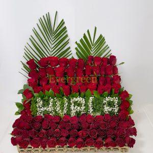 Korpa 101 ruža – 011 Hvala 101 ruža