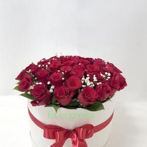 Aranžmani u kutiji – Flower Box – 004 Ruže u kutiji