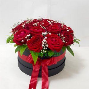 Aranžmani u kutiji – Flower Box – 006 Ruže u Flower Boxu