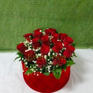 Aranžmani u kutiji – Flower Box – 008 Flower box crvene ruže