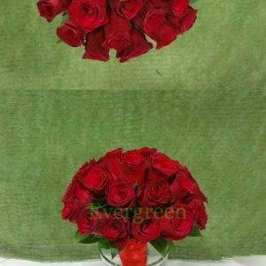 Bidermajer – 002 Bidermajer od crvenih ruža