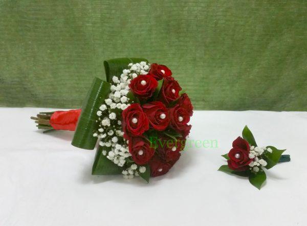 Bidermajer od crvenih ruža
