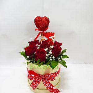 Aranžmani u kutiji – Flower Box – 024