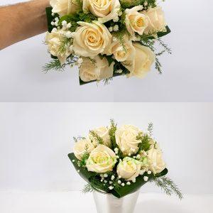 Bidermajer – 008 Bidermajer od belih ruža