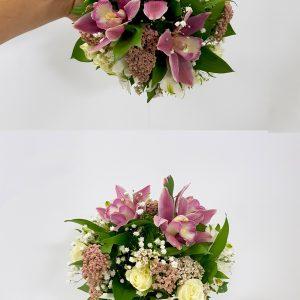 Bidermajer – 011 Bidermajer od orhideja i ruža