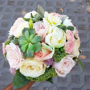 Bidermajer – 085 Bidermajer od čuvarkuća , božura i ruža