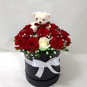 Aranžmani u kutiji – Flower Box – 023 Za 18-ti rodjendan