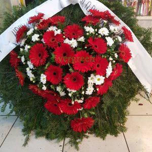 Venac 003 – Venac od cveća u obliku srca