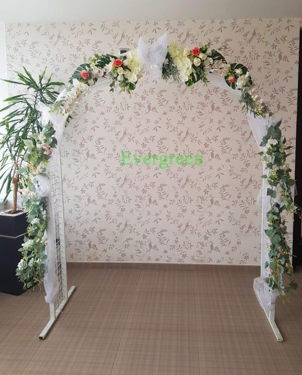Veštački cvetni aranžmani za svadu za iznajmljivanje 012