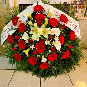 Venac – 041 – Venac od prirodnog cveća za sahranu