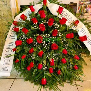 Venac – 043 – Venac od crvenih ruža